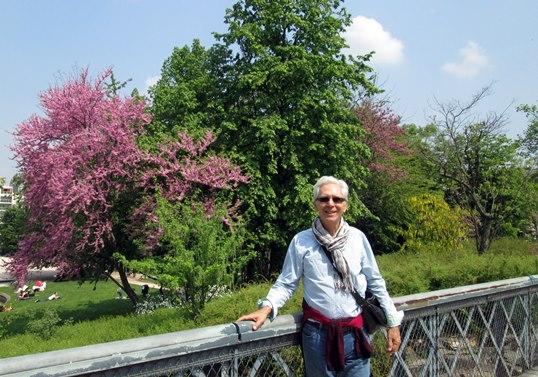 Paul au parc Georges Brassens.