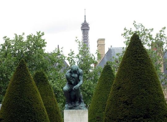 «Le Penseur» de Rodin,