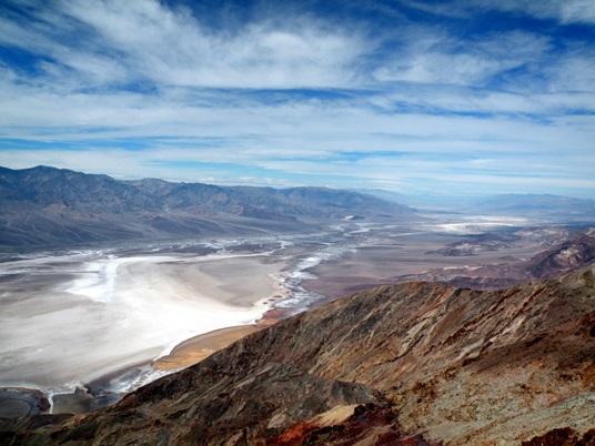 La Vallée de la Mort vue du mont Dante.