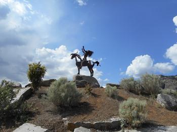 Une sculpture du Desert Cultural Center.