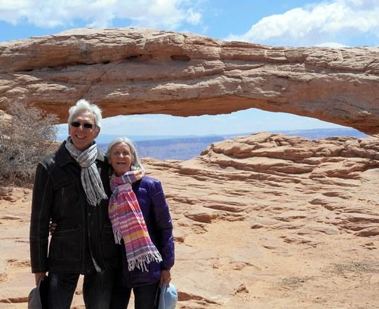 Nous avons d'ailleurs terminé la visite de Canyonlands à l'arche de Mesa.
