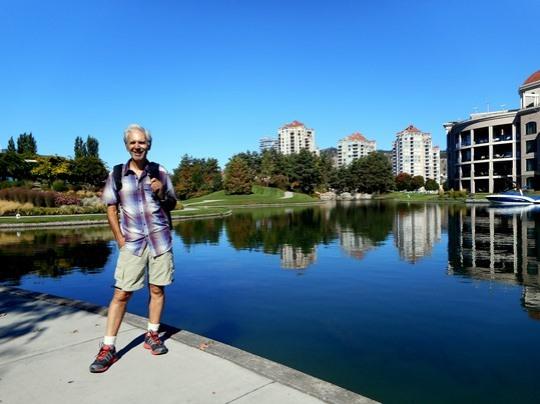À Kelowna, on a aménagé une superbe promenade le long du lac Okanagan.