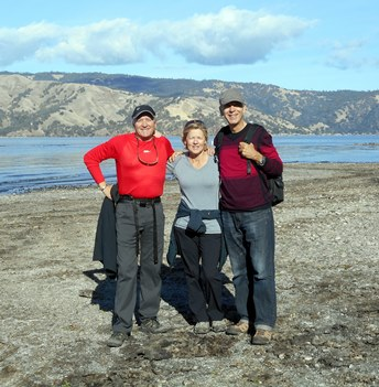 En compagnie de Daniel et Lise à Clair Lake.