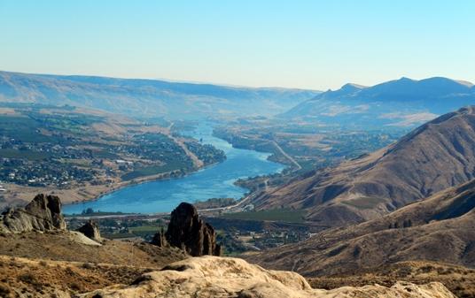 La rivière Wenatchee mène à la ville du même nom.