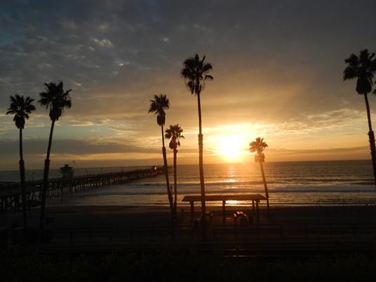 Coucher de soleil à San Clemente.