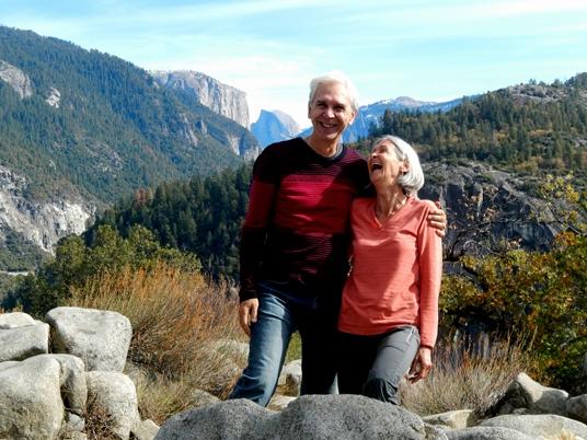 Heureux à Yosemite.