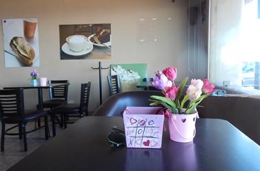 Le café où nous allions tous les jours à Loreto.