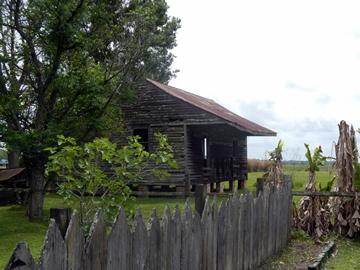 Une case d'esclaves.