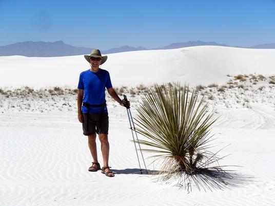 Il faut s'aventurer dans les sentiers balisés du parc pour voir les dunes blanches dans toute leur splendeur.