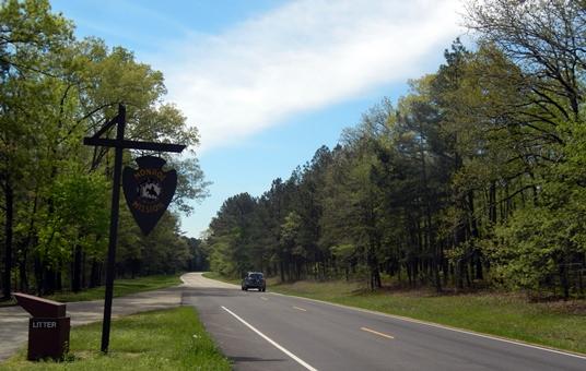 On a créé le long de la Natchez Trace Parkway un beau parc linéaire de 700 kilomètres.