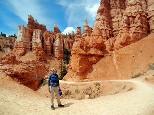 Lise au parc de Bryce Canyon.
