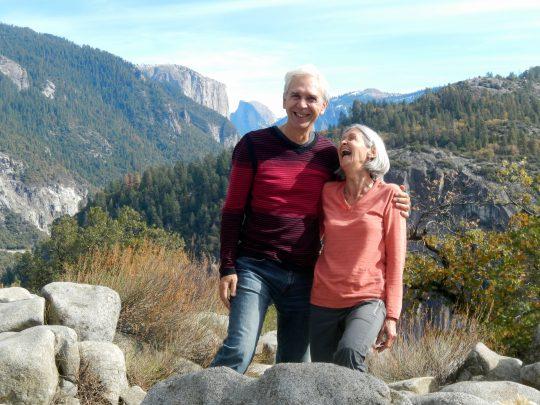 Lise et moi en arrivant à Yosemite.